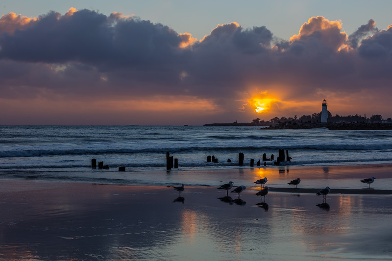 Twin Lakes Beach Sunset Reflections 1