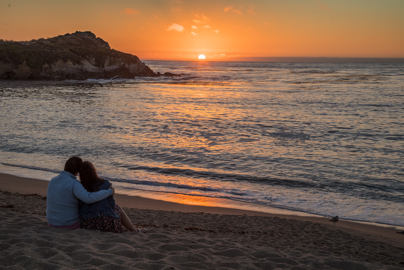 Romantic Monastery Beach Sunset