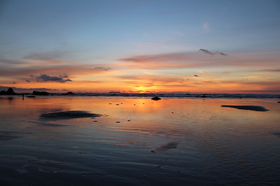 Sunset at Ruby Beach on the Washington Coast