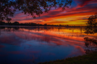 Sunset over Lake Theresa, Deltona, Florida
