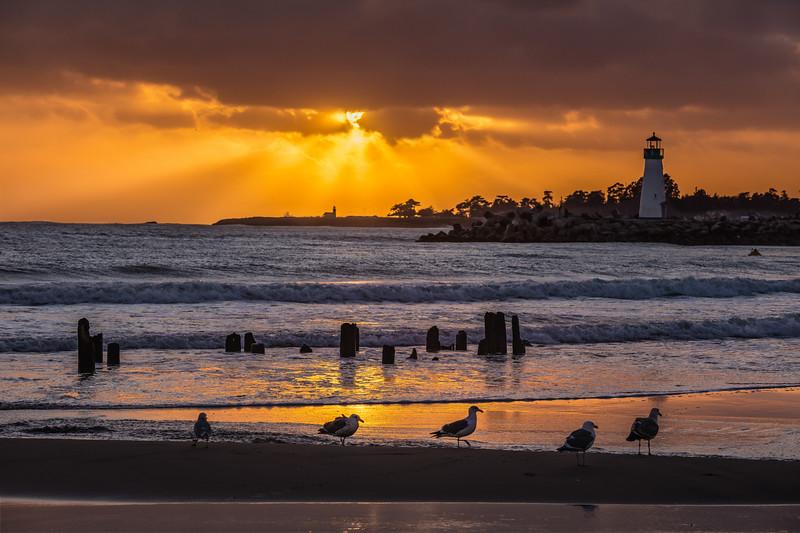 Twin Lakes Beach Sunset Reflections 2