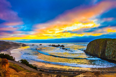 Sunset Over the Pacific Ocean in February