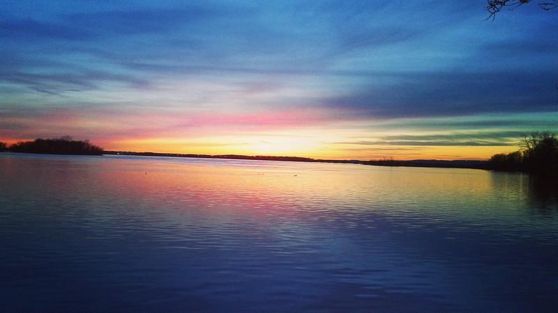 Sunset taken looking towards Lake of Two Mountains from Sainte-Anne-de-Bellevue lookout
