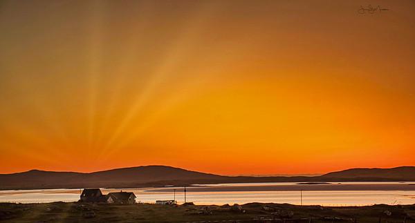 March Sunset, Vallay Strand