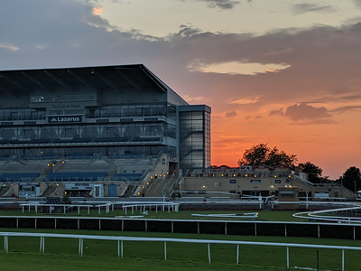Doncaster Racecourse Main Stand at Sunset