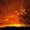Sunset with Bald Knob Cross<br /> Picture name:  Devine