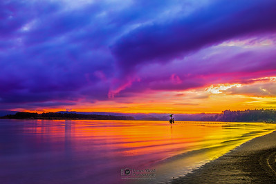 """Columbia Shores,"" Columbia River Sunset, Washington"
