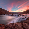 Sandstone Falls at Sunset