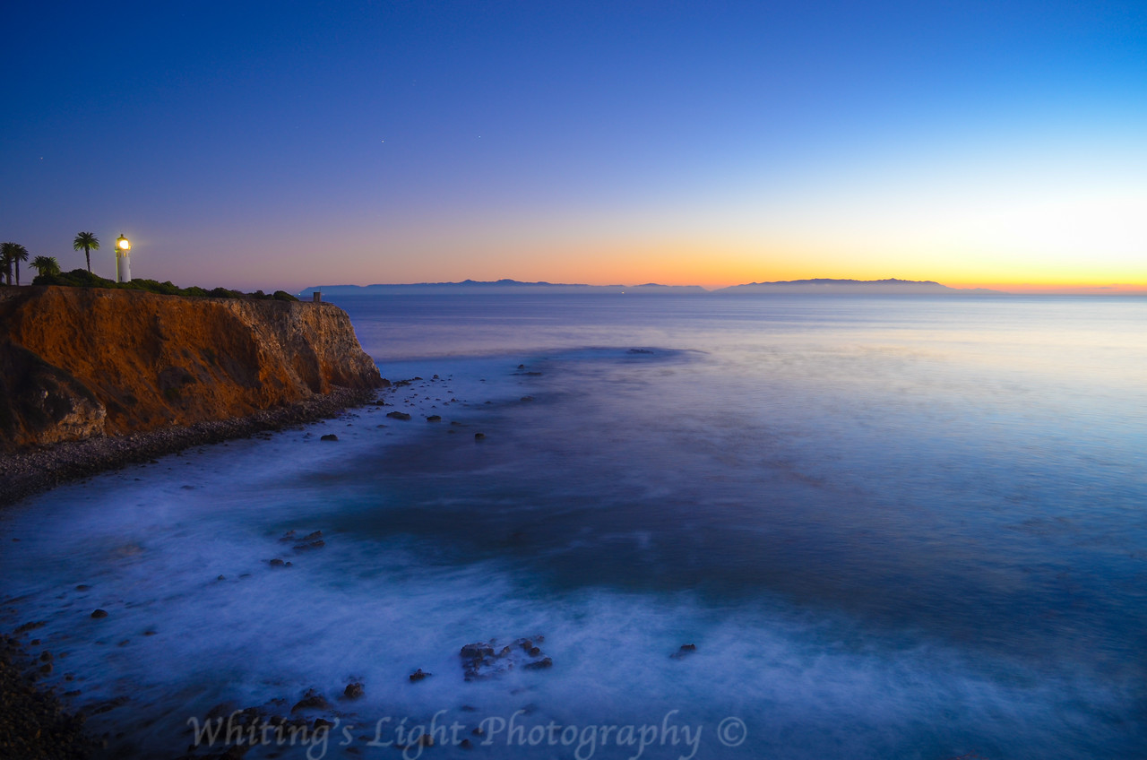 Point Vicente Light House at Sunset