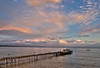 Sunset with Moon Over Capitola Pier