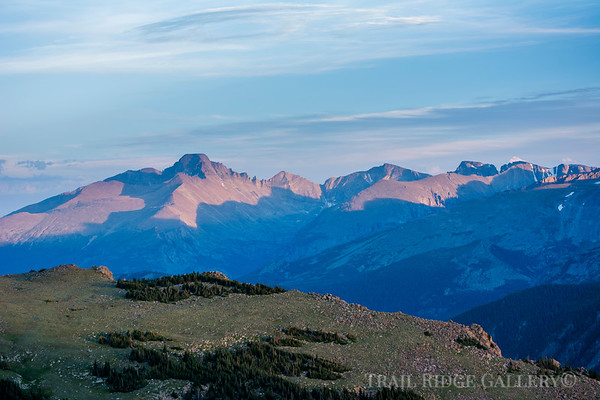 Longs Peak Over Forest Canyon