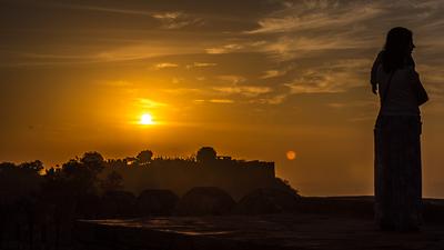 Sunset over Nahargarh fort