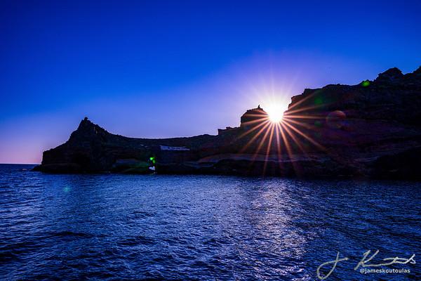 Sunset on the Santorini Caldera