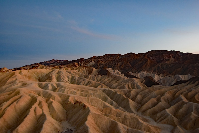 Twilight Glow at Zabriskie Point in Death Valley National Park