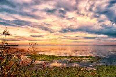Sunset over Lake Monroe, Deltona, Florida