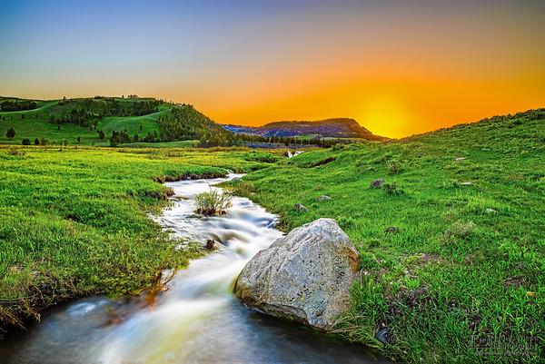 """Bliss,"" Yellowstone Valley Sunset, Yellowstone National Park, Wyoming"