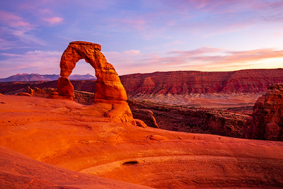 Dusk at Delicate Arch