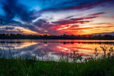 Fiery Sunset at Dale Maffitt Reservoir