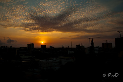 Sunset over Luanda, Angola.  One of the only good thing about Luanda is the beautiful sunsets.