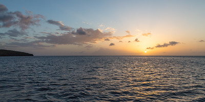St Lucia Sunset panorama