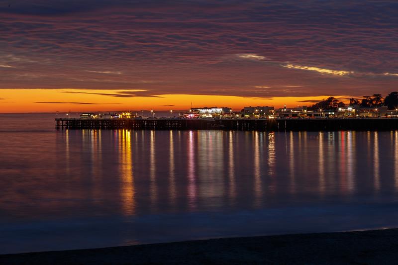 Santa Cruz Pier Reflections