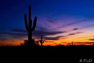 October sunset over the Arizona desert