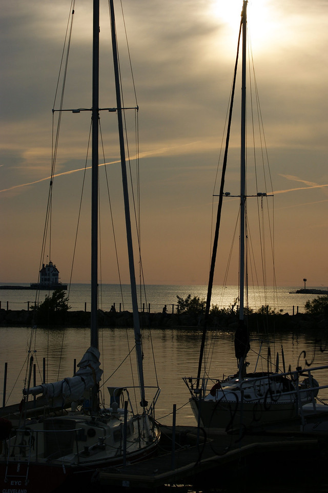 Photo By Bob Bodnar....................Early Evening Sunset at Spitzer Lakeside Marina, Lorain Ohio