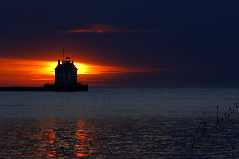 Photo By Robert Bodnar............................Sunsetting in Lorain Harbor