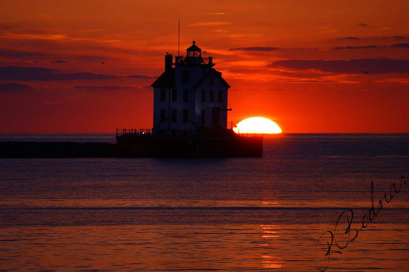 Photo By Robert Bodnar.............................Lighthouse Sunset