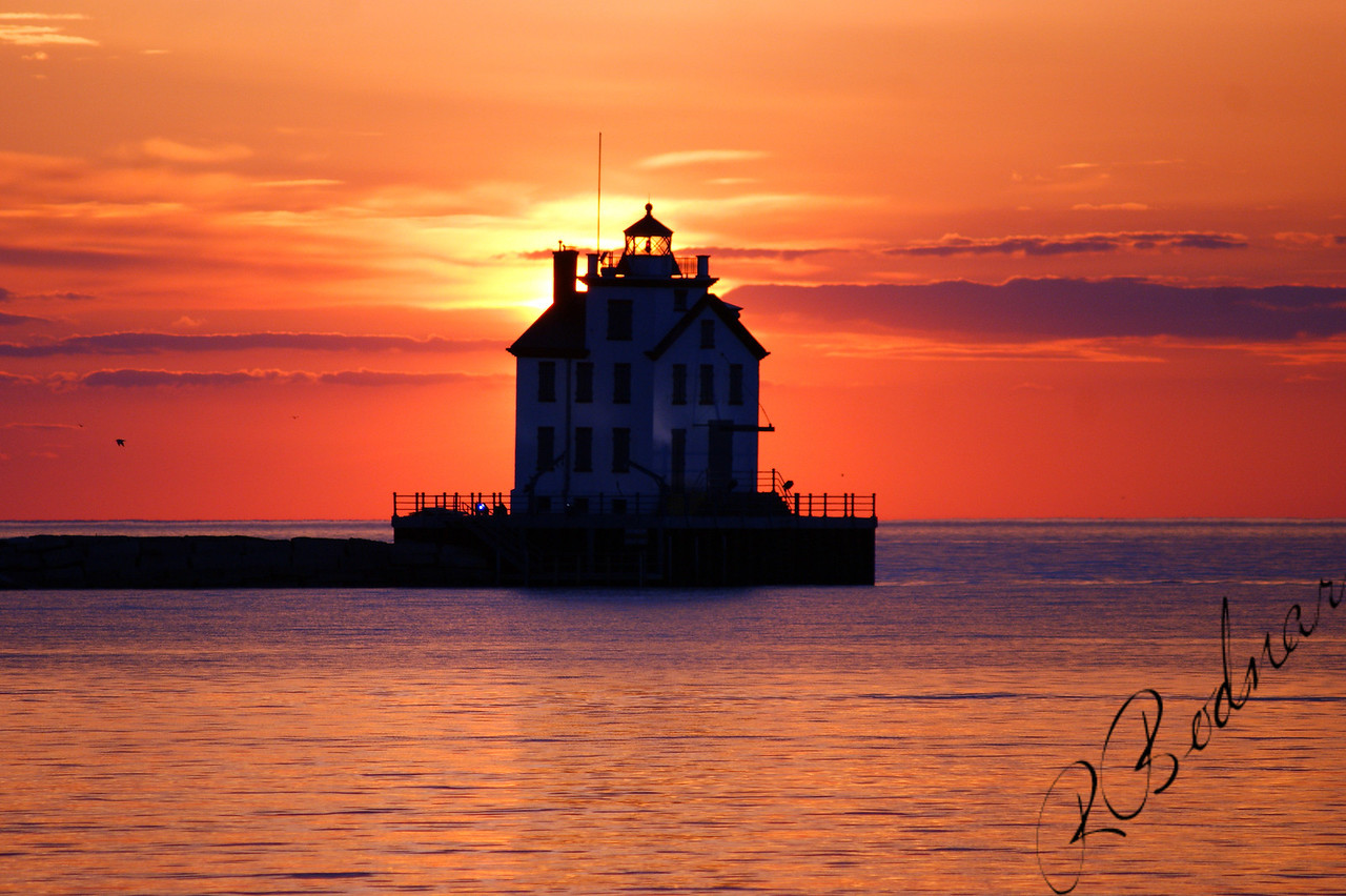 Photo By Robert Bodnar............................Lorain Lighthouse Sunset