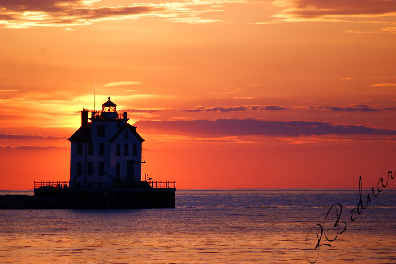 Photo By Robert Bodnar.........................................Lighthouse Sunset