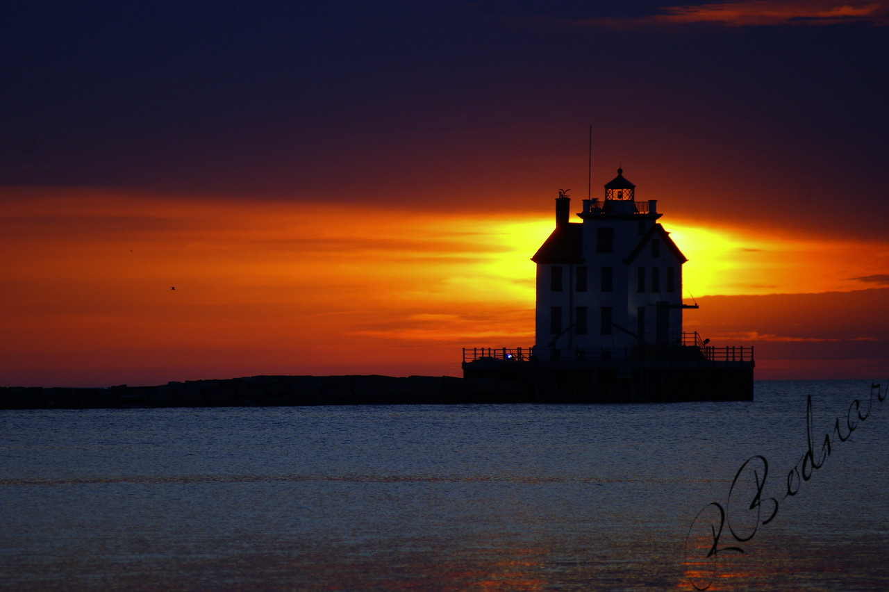 Photo By Robert Bodnar................................Sunset on Lorain Harbor