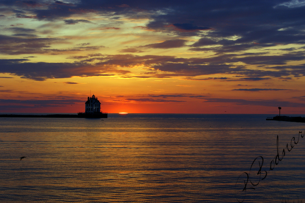 Photo By Robert Bodnar............................Lorain Harbor Sunset