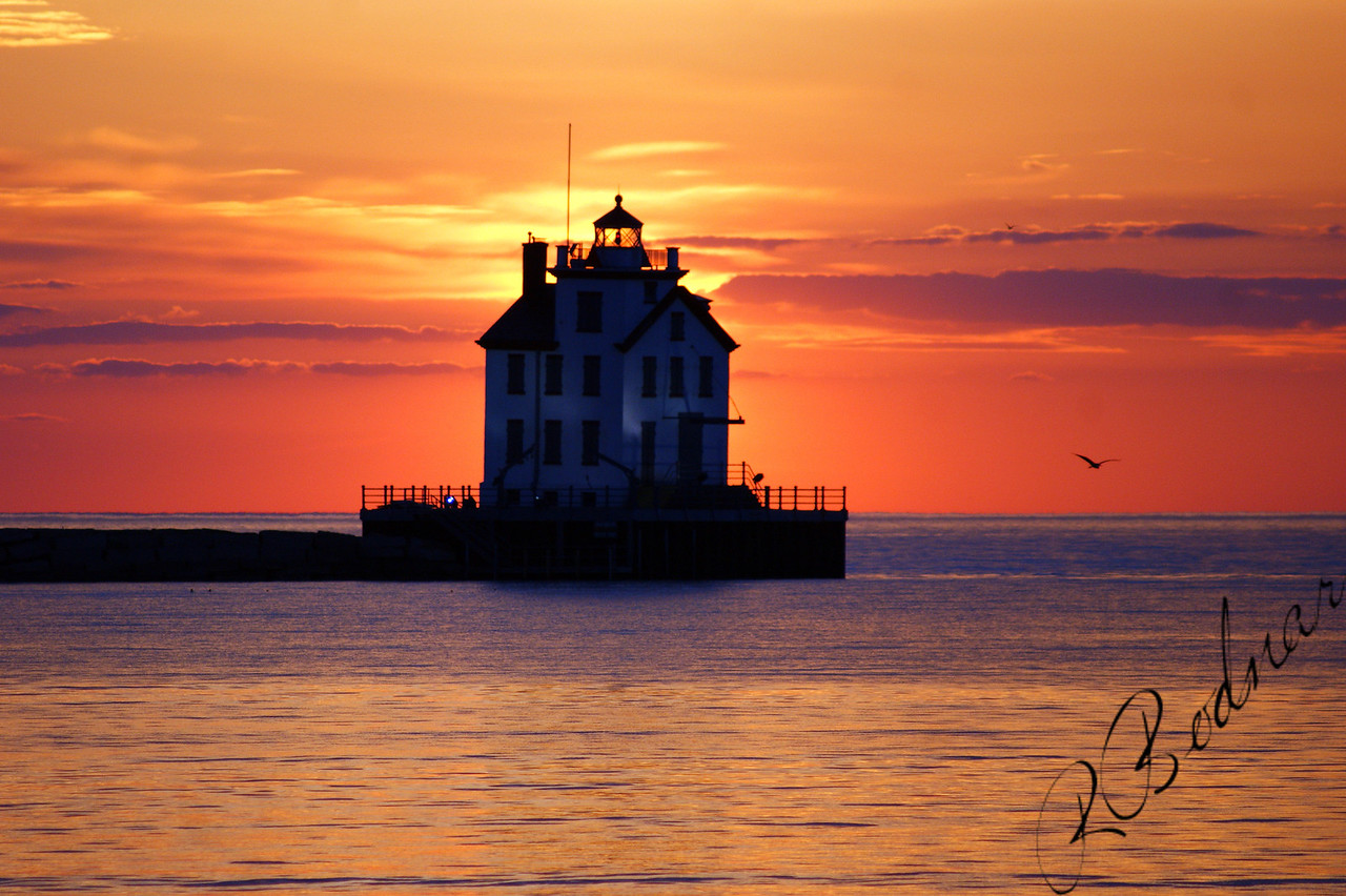 Photo By Robert Bodnar.............................Lorain Lighthouse at Sunset