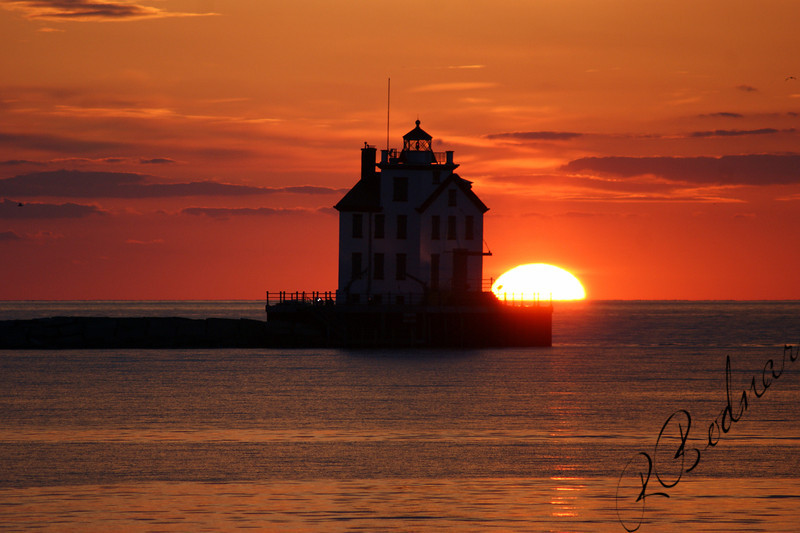Photo By Robert Bodnar................................Sunset on Lake Erie