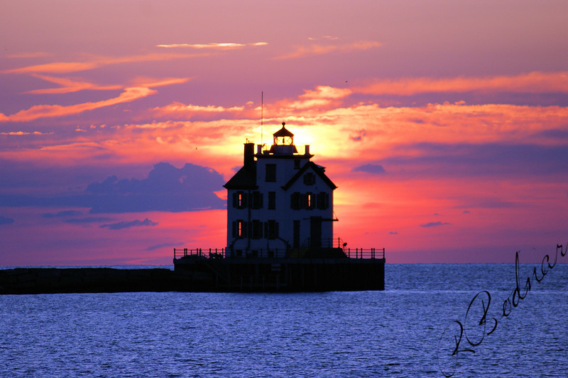 Photo By Robert Bodnar...................................Lighthouse Sunset