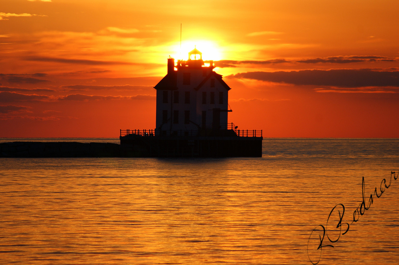Photo By Robert Bodnar......................................Lorain Lighthouse Sunset