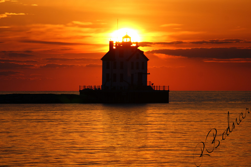 Photo By Robert Bodnar...............................Sunset in Lorain Harbor