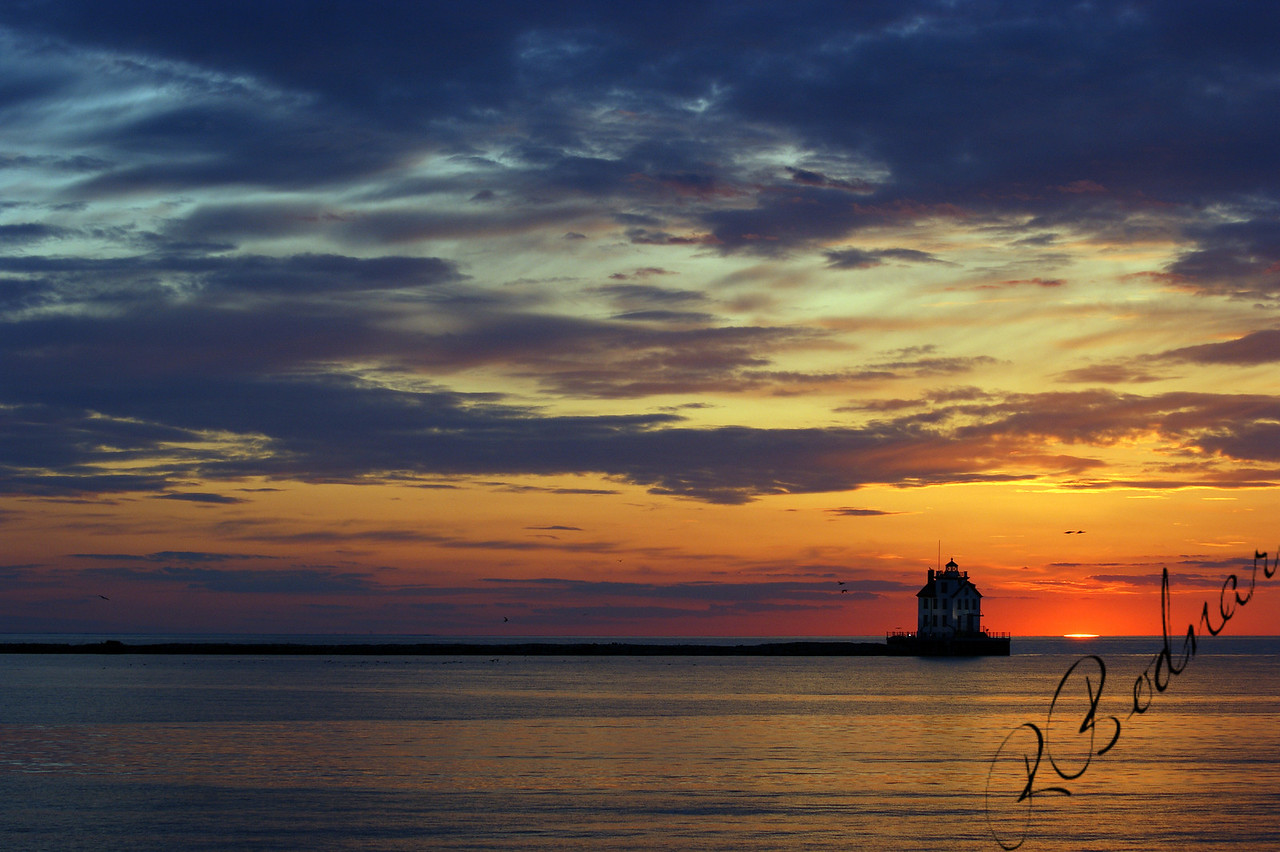 Photo By Robert Bodnar...................................Sunset in Lorain harbor