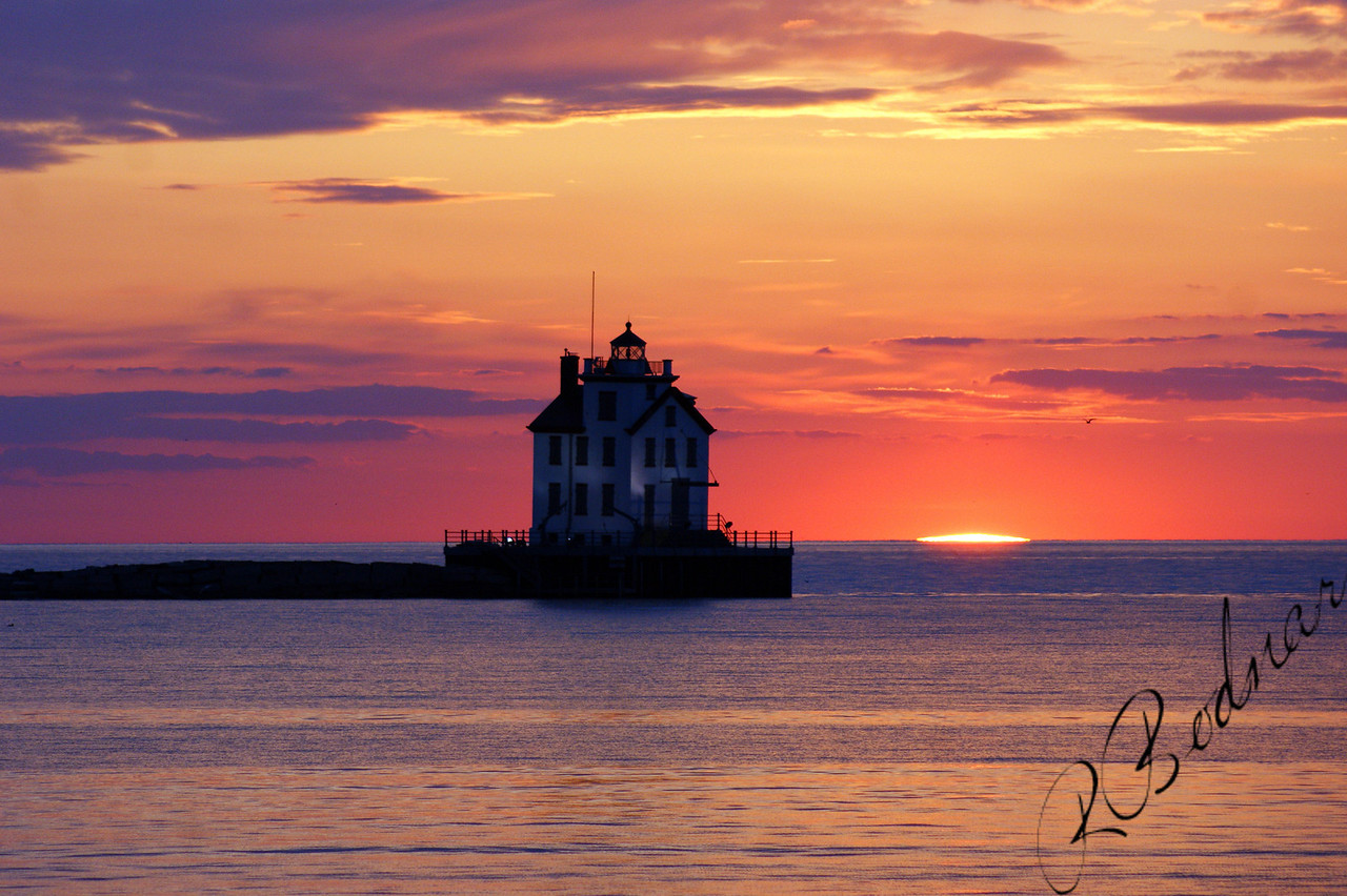 Photo By Robert Bodnar...................................The Sunsetting on Lorain Harbor