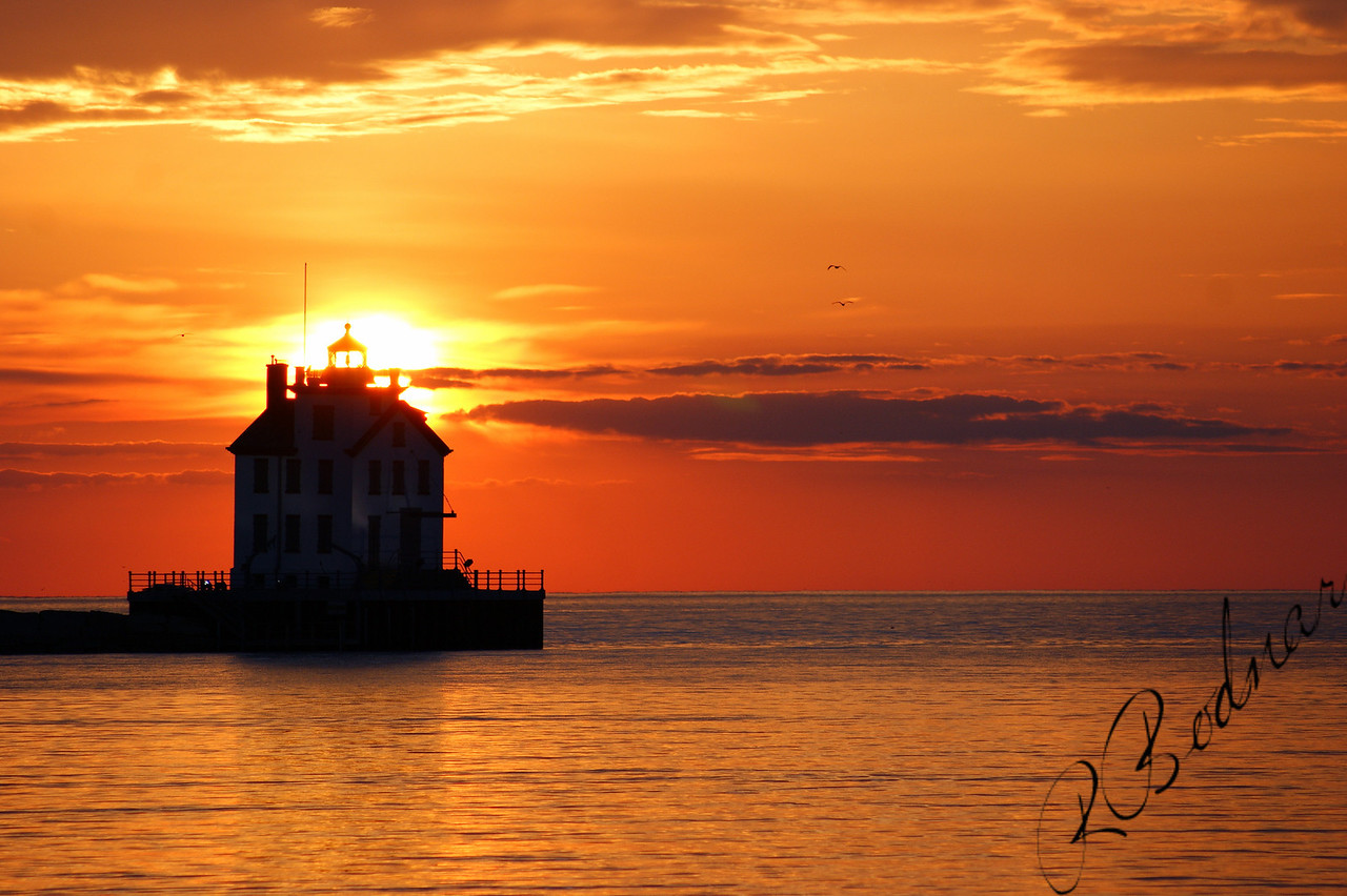 Photo By Robert Bodnar...............................Lorain Harbor Sunset