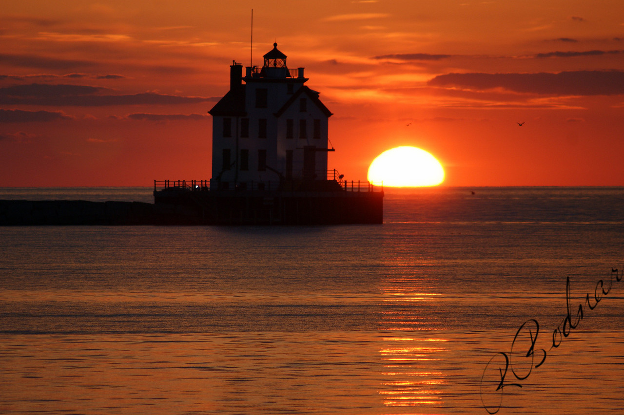 Photo By Robert Bodnar............................Sunset and Lighthouse