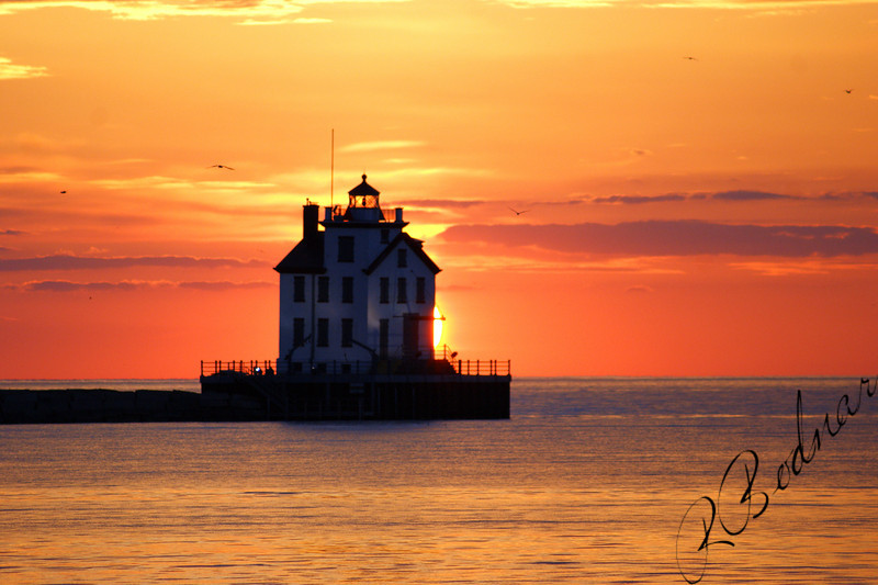 Photo By Robert Bodnar.......................................Lighthouse at sunset