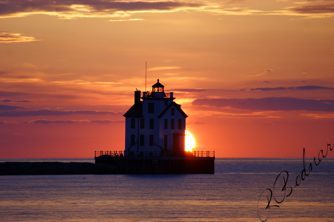 Photo By Robert Bodnar................................Lorain Harbor Sunset