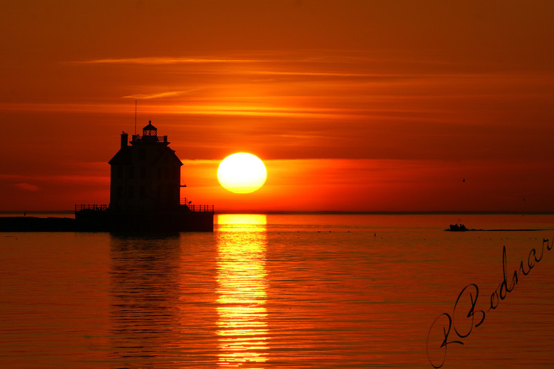 Photo By Robert Bodnar...........................................Lorain Lighthouse Sunset