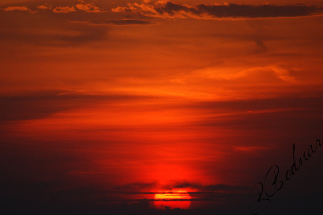 Photo By Robert Bodnar................................A beautiful sunset Sky