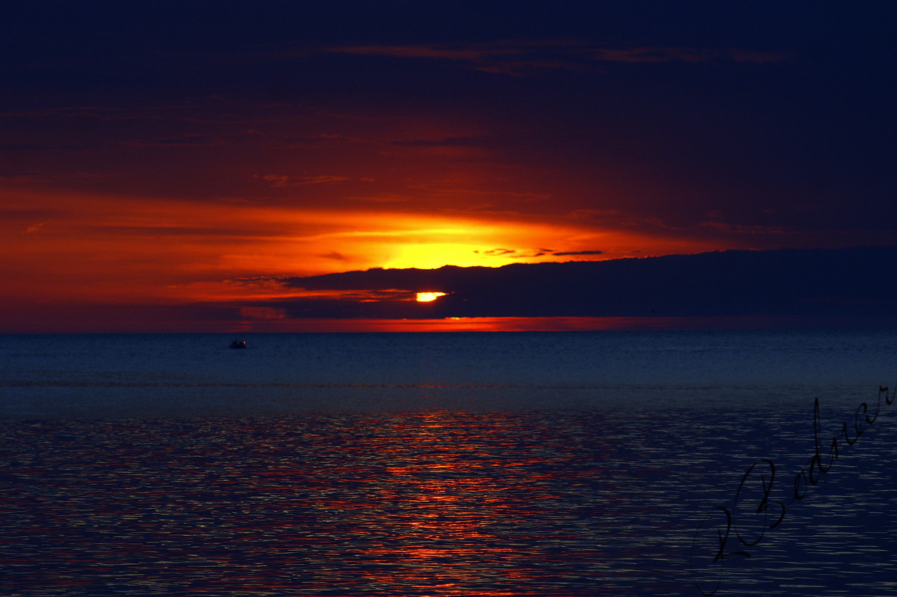 Photo By Robert Bodnar....................................Sunset on Lake Erie