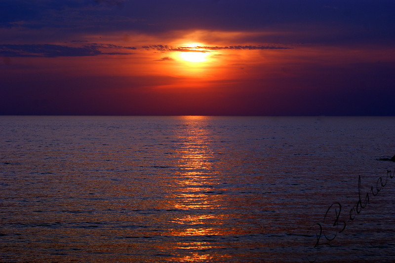 Photo By Robert Bodnar.............................Lake Erie on a Sunset sky