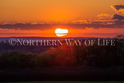 Sunset over the hills of Leelanau