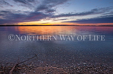Sunset over Lake Leelanau: Lake Leelanau, Michigan